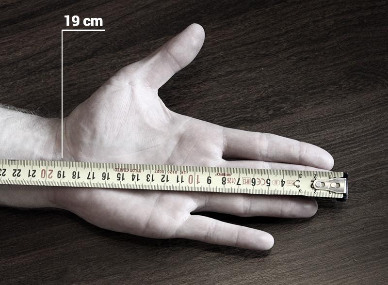 Priemer hrazdy podľa veľkosti ruky
