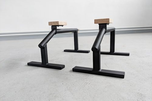 Multifunkčné bradielka - paralety s dreveným madlom